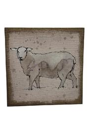 Creative Co-Op Sheep Burlap Wall Decor - Front cropped