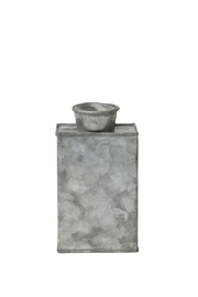Creative Co-Op Small Metal Vase - Front cropped