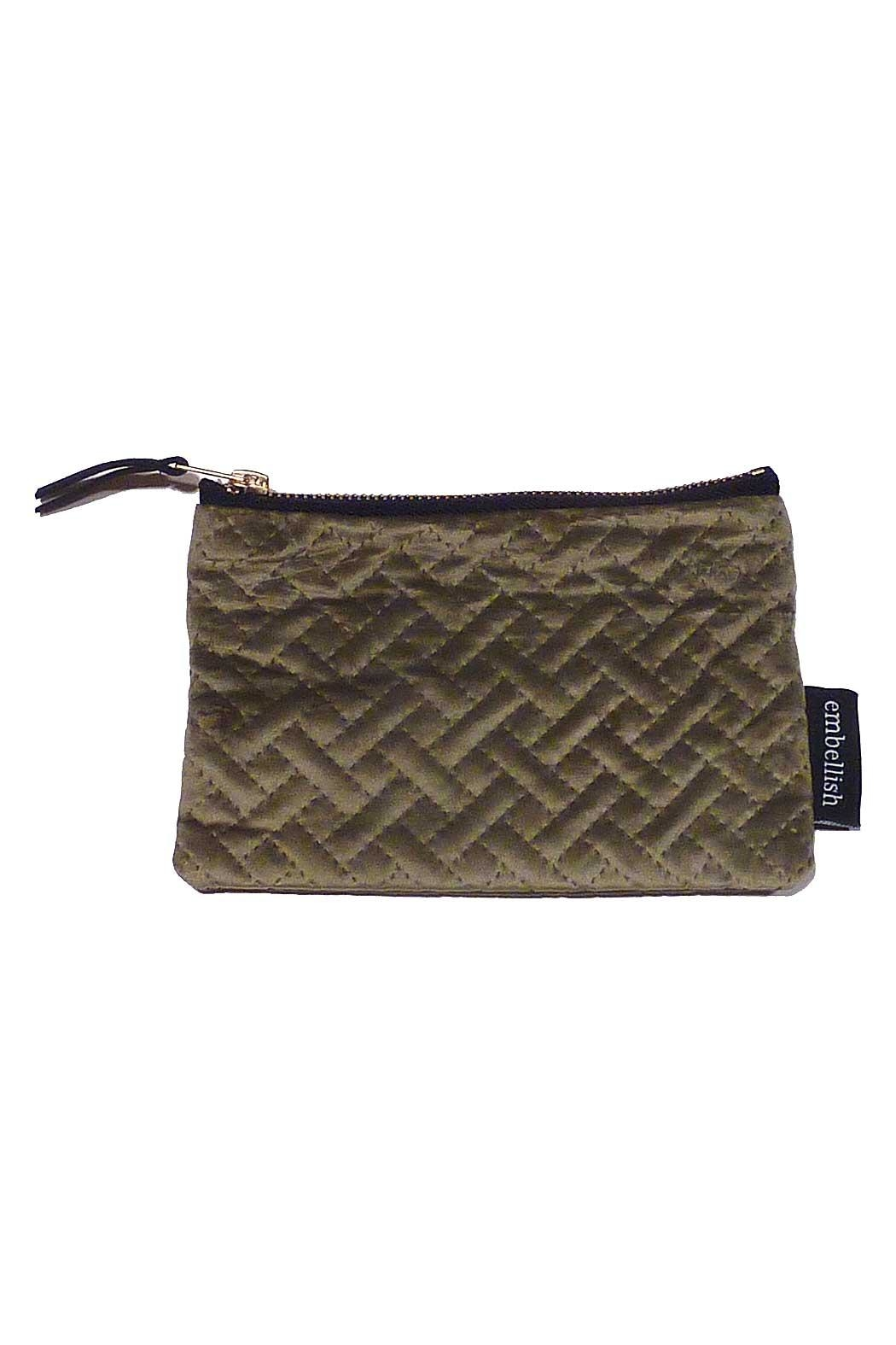 Creative Co-Op Small Velvet Pouch - Front Cropped Image