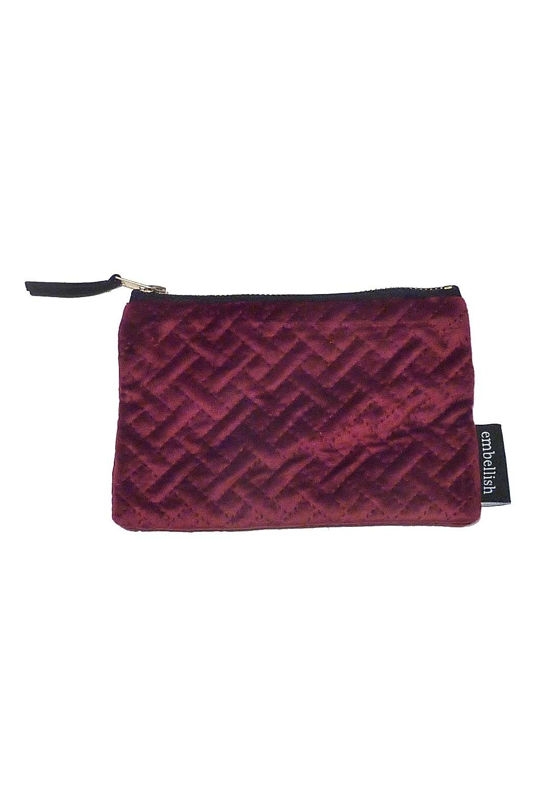 Creative Co-Op Small Velvet Pouch - Main Image