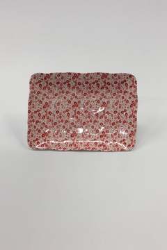 Shoptiques Product: Floral Stoneware Rectangle Tray