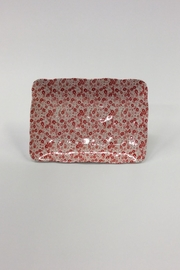 Creative Co-Op Floral Stoneware Rectangle Tray - Product Mini Image