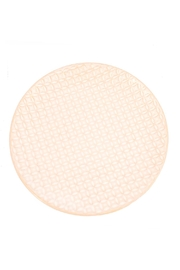 Creative Co-Op White Ceramic Plate - Front cropped