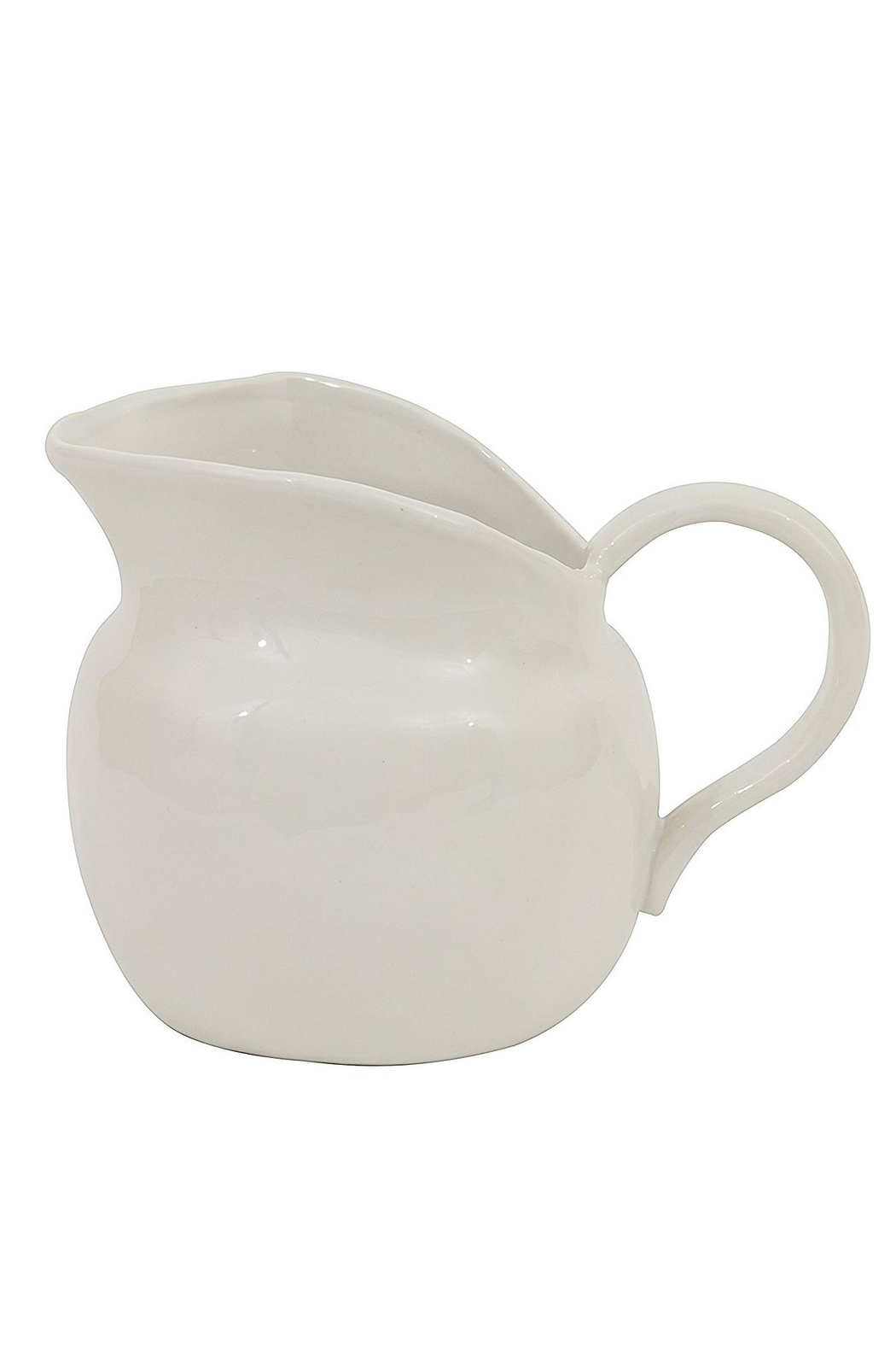 Creative Co-Op White Stoneware Creamer - Front Cropped Image