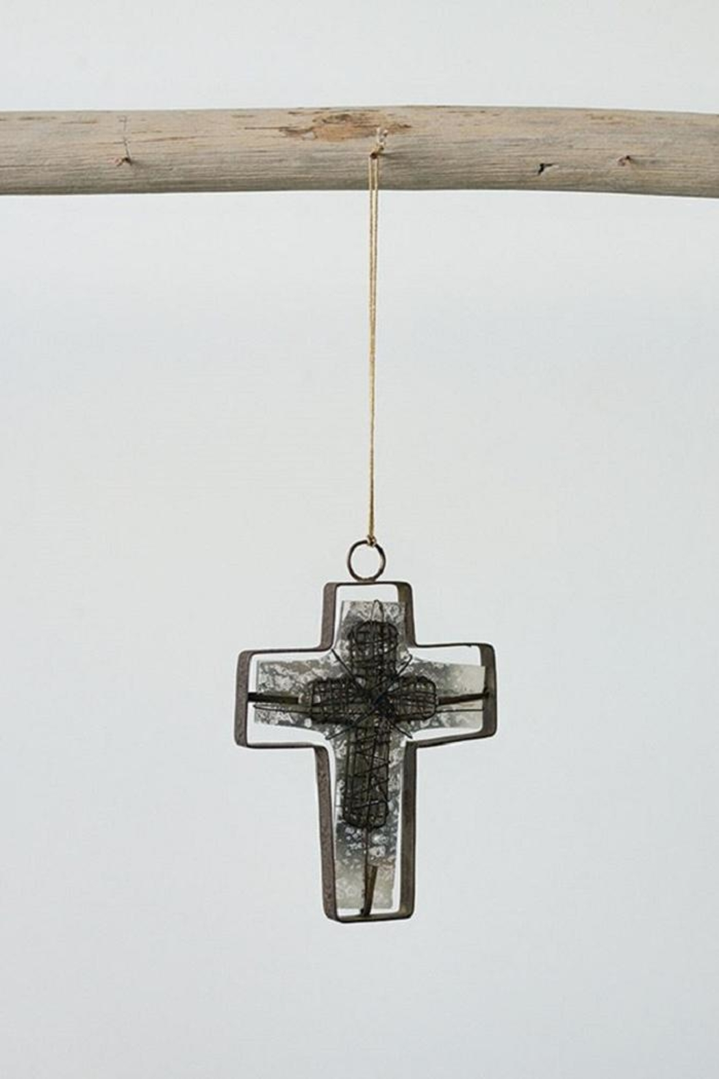 Creative Co-Op Wire Cross Ornament - Main Image