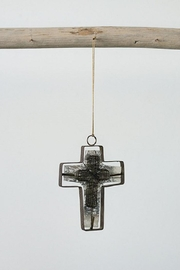 Creative Co-Op Wire Cross Ornament - Front cropped