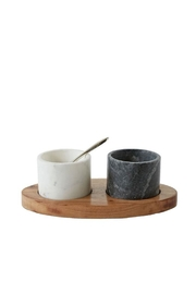 Creative Co-Op Wood/marble Tray Set - Product Mini Image
