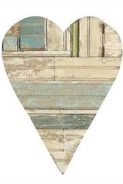 Creative Co-Op Wooden Heart Decor - Back cropped
