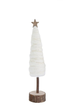 Creative Co-Op Wool Christmas Tree W/ Wood Base & Star - Alternate List Image