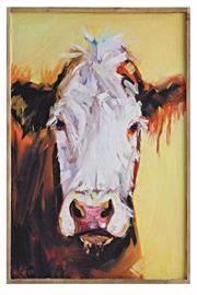 Creative Co-Op Yellow Cow Canvas - Product Mini Image