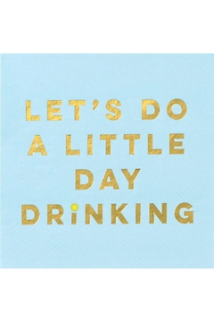 """Creative Gifts """"Let's Do A Little Day Drinking"""" Cocktail Napkin - Alternate List Image"""