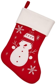 Creative Gifts Red Snowman Stocking - Product Mini Image