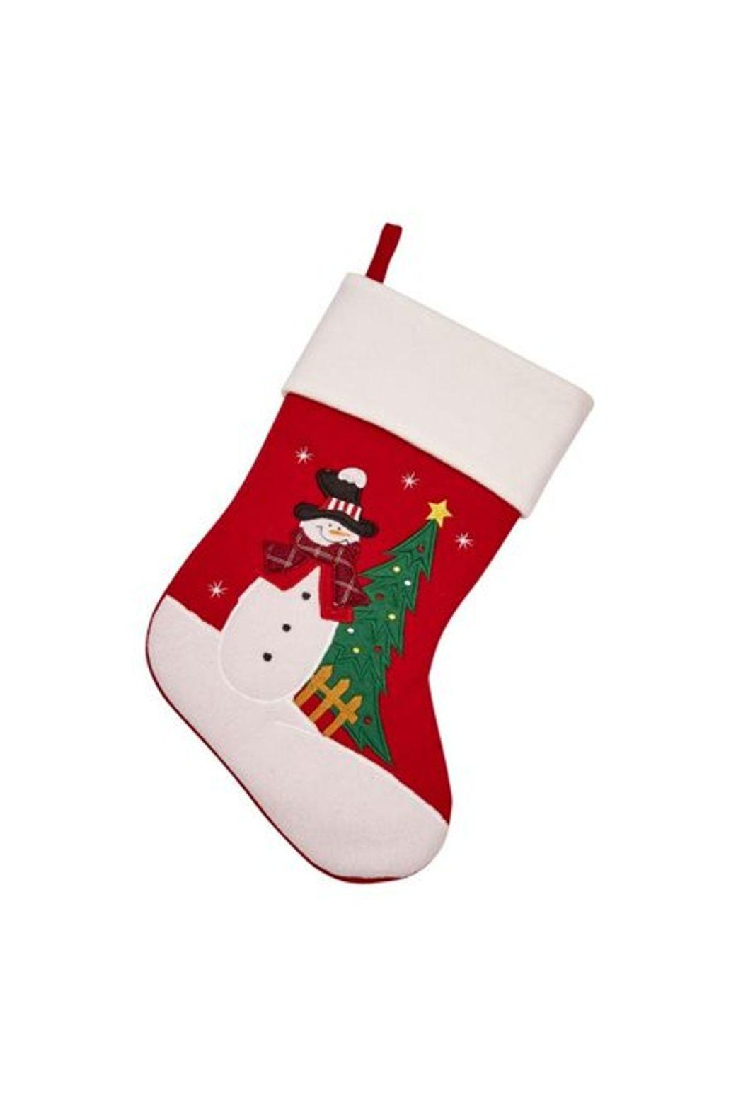 Creative Gifts Snowman & Christmas Tree Stocking - Main Image