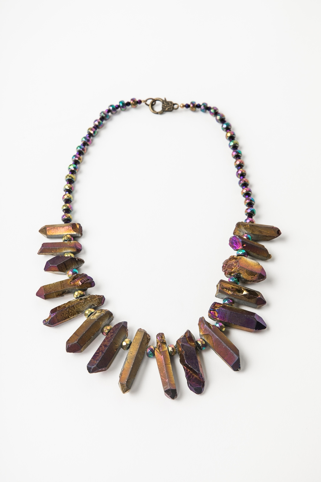 Creative Treasures Electroplated Quartz Necklace - Main Image