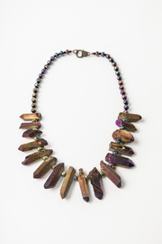 Creative Treasures Electroplated Quartz Necklace - Front cropped