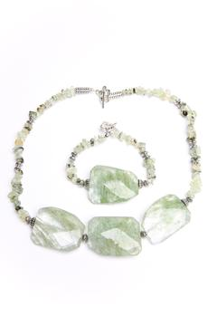 Creative Treasures Green Prehnite Necklace Set - Product List Image