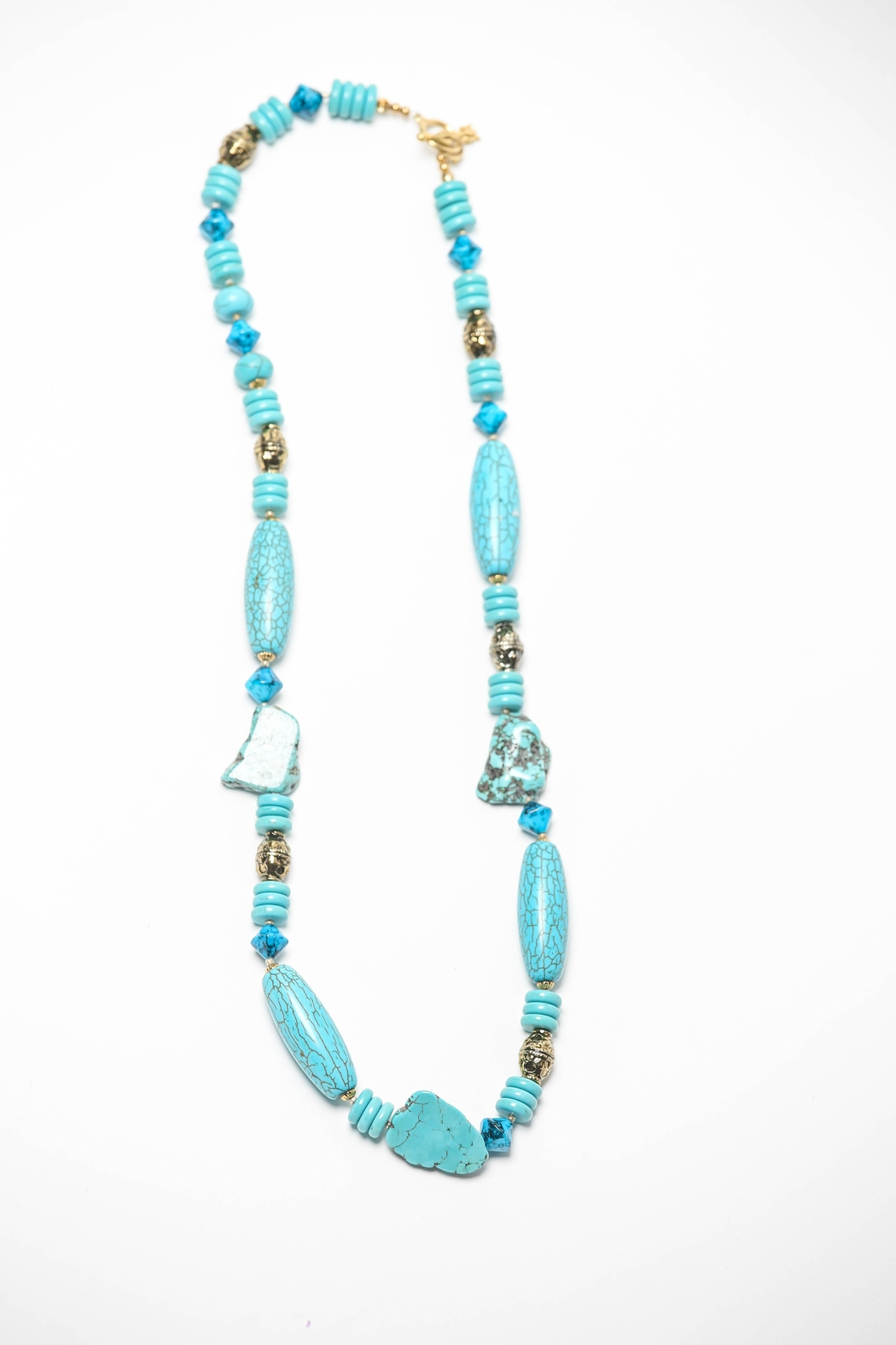 Creative Treasures Long Turquoise Necklace - Main Image