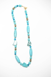 Creative Treasures Long Turquoise Necklace - Front cropped