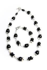 Creative Treasures Onyx Black Necklace Set - Front cropped