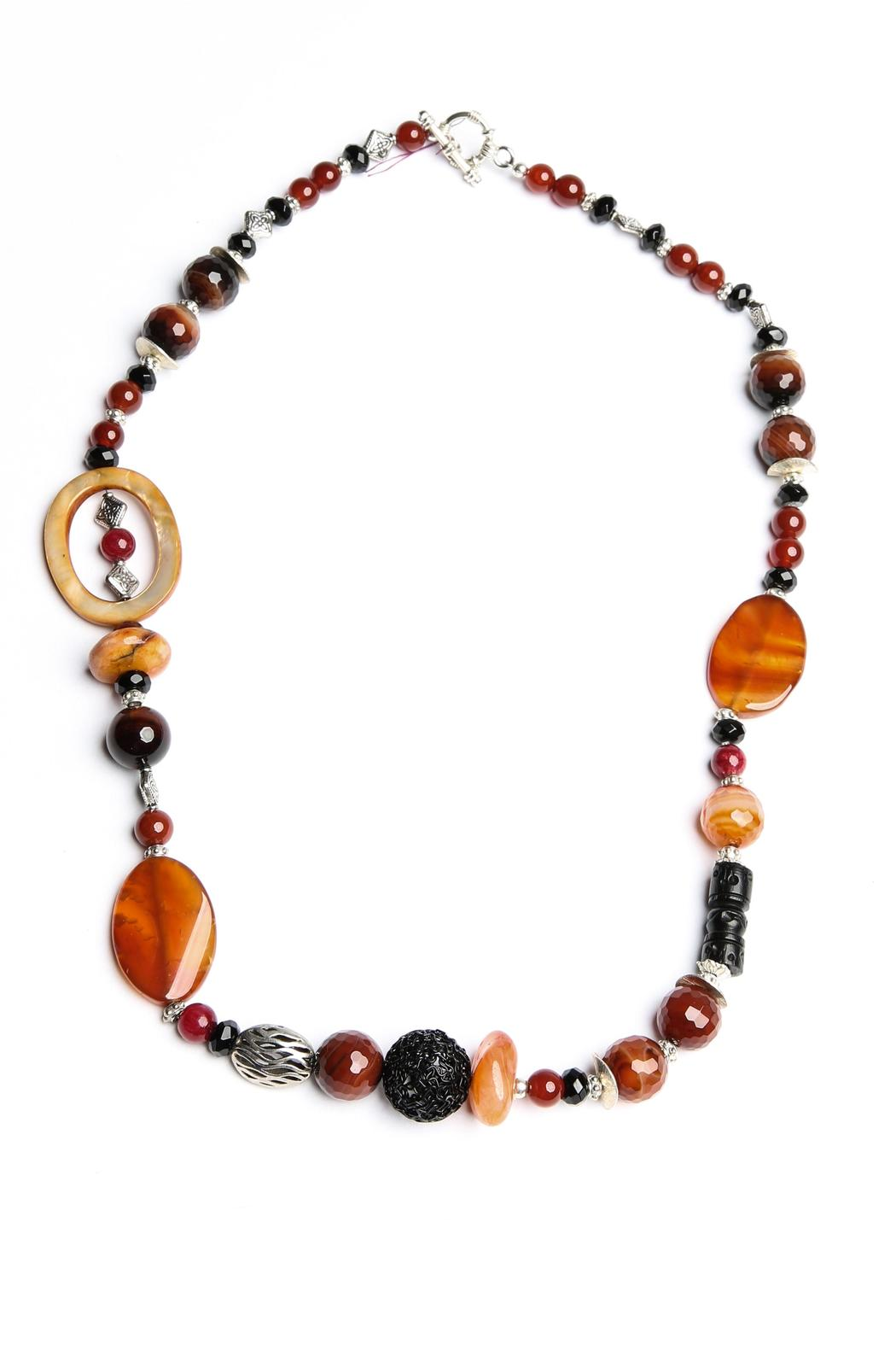 Creative Treasures Orange Agate Necklace - Front Cropped Image