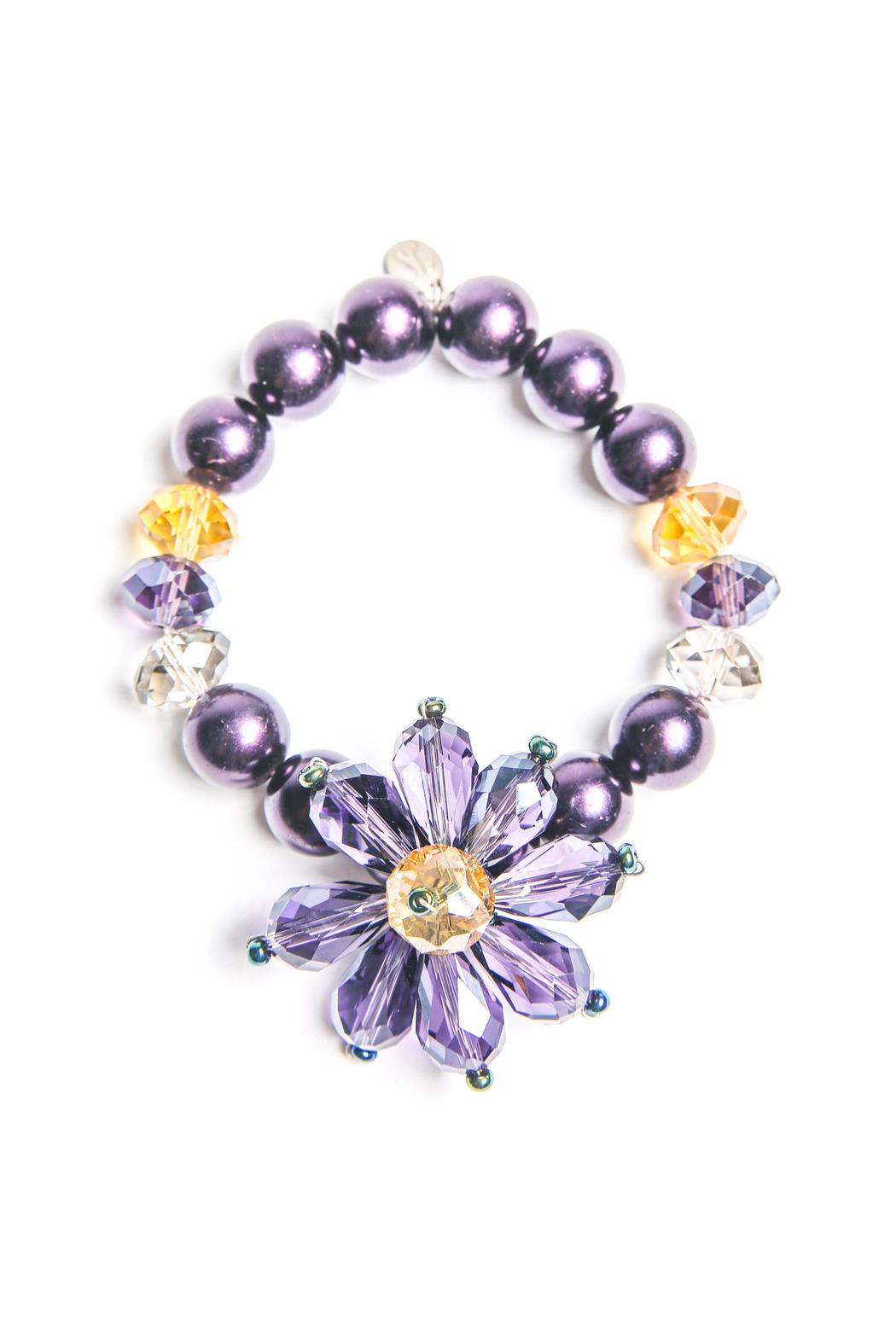 Creative Treasures Purple Flower Bracelet - Front Cropped Image