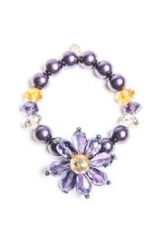 Creative Treasures Purple Flower Bracelet - Front cropped