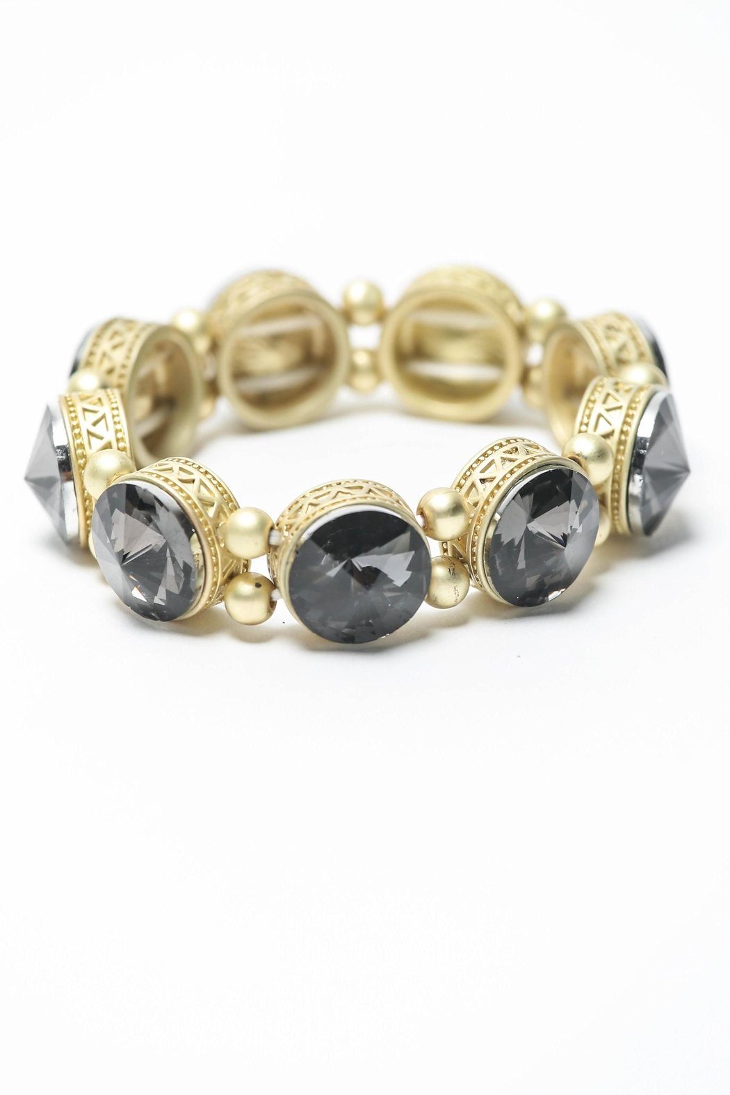 Creative Treasures Smokey Grey  Stone Bracelet - Main Image