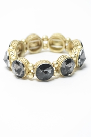Creative Treasures Smokey Grey  Stone Bracelet - Front cropped