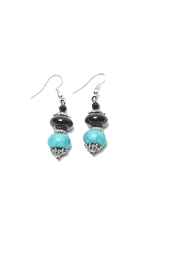 Shoptiques Product: Turquoise  Onxy Earrings