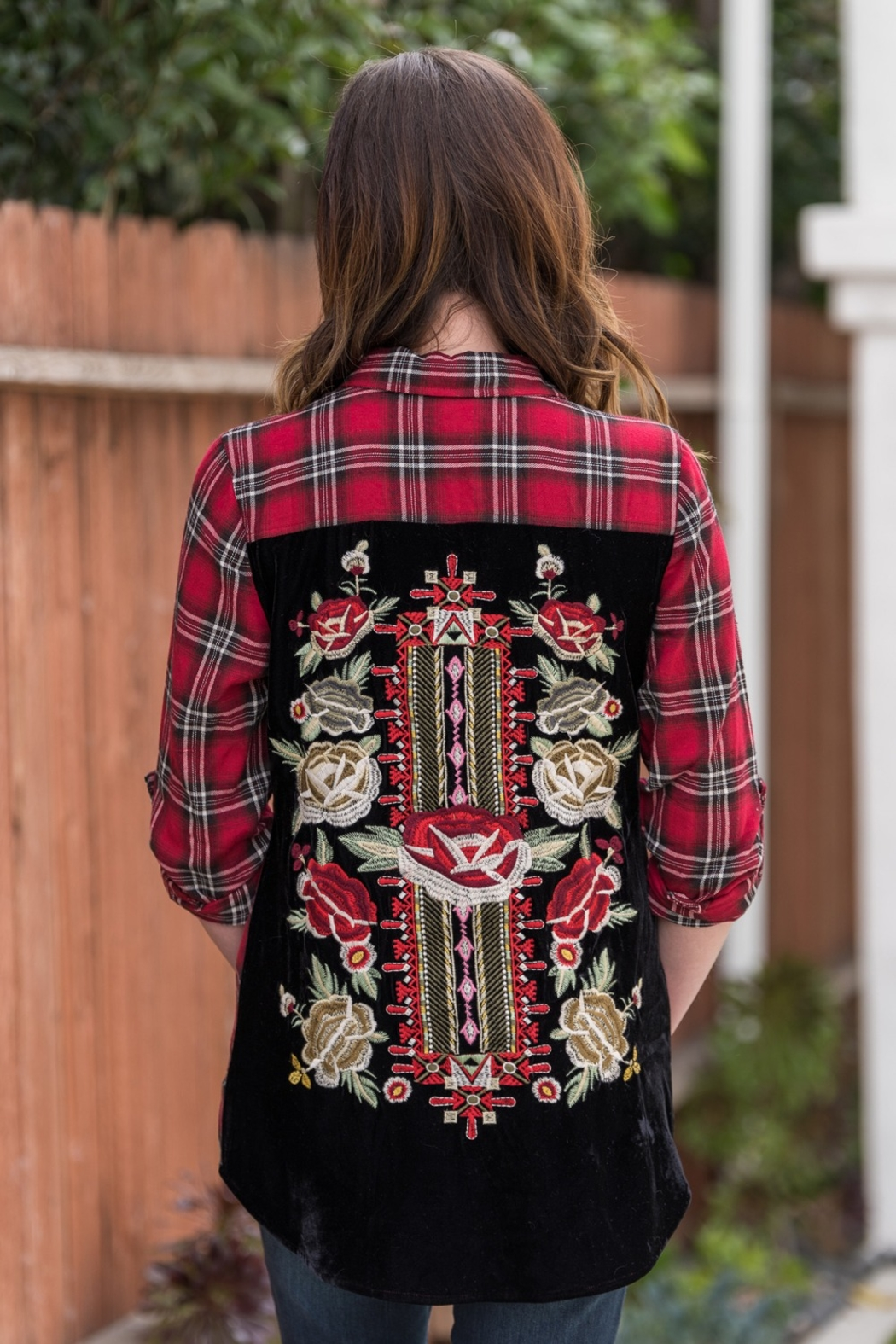 Biz Creatively Embroidered Blouse - Front Full Image