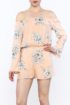 Shoptiques Product: Peach Floral Romper