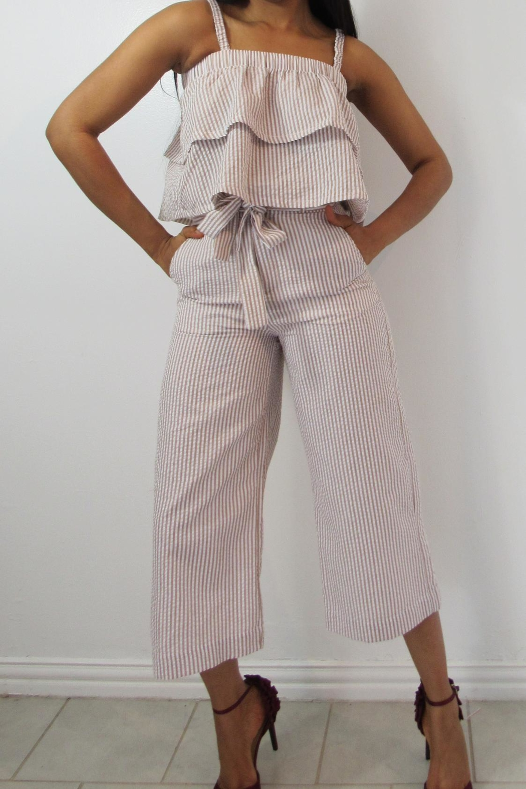 MODChic Couture Crepe Bucket Crops - Main Image