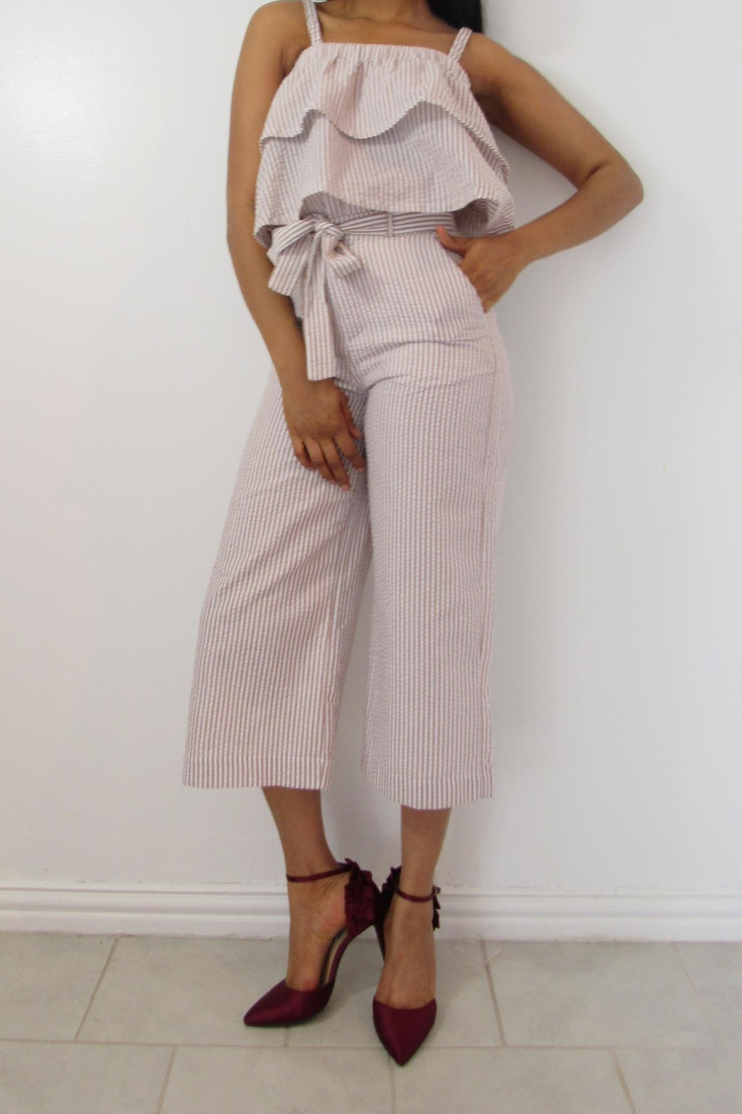 MODChic Couture Crepe Bucket Crops - Front Full Image
