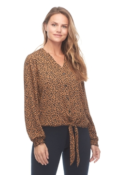 FDJ French Dressing Jeans Crepe Caramel Blouse - Product List Image