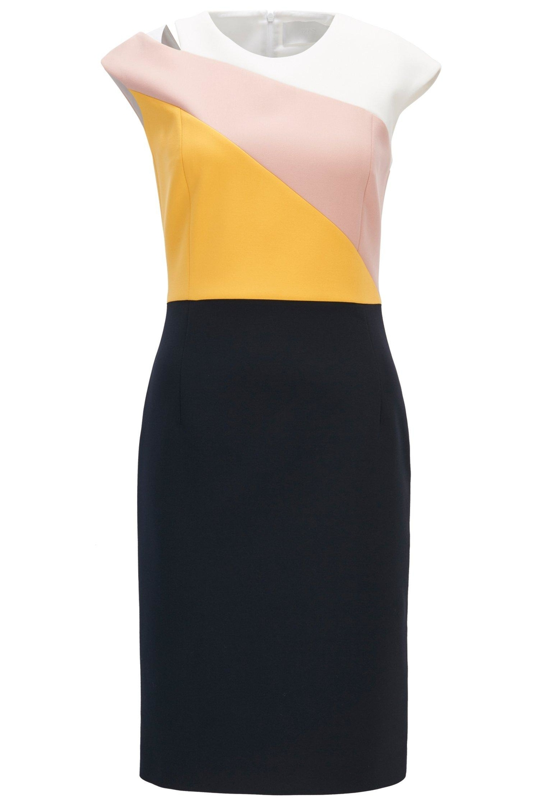 HUGO BOSS Crepe Dress - Side Cropped Image