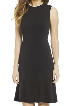 Donna Morgan Crepe Dress With Pearl Detail - Product List Image