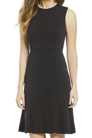 Donna Morgan Crepe Dress With Pearl Detail - Product Mini Image