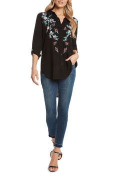 Shoptiques Product: Crepe Embroidered Shirt