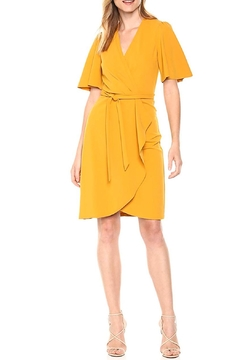 Donna Morgan Crepe Faux-Wrap Dress - Product List Image