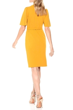 Donna Morgan Crepe Faux-Wrap Dress - Alternate List Image
