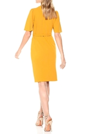 Donna Morgan Crepe Faux-Wrap Dress - Front full body