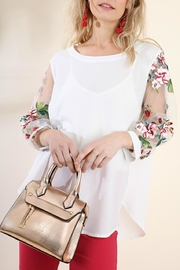 Umgee USA Crepe Floral Mesh - Front cropped