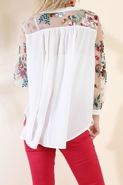 Umgee USA Crepe Floral Mesh - Front full body