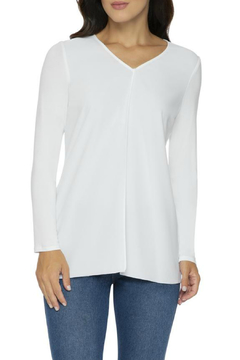 Lysse Crepe Linden V Neck Contrast Hem Tunic - Alternate List Image