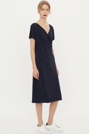 By Malene Birger Crepe Wrap Dress - Front cropped