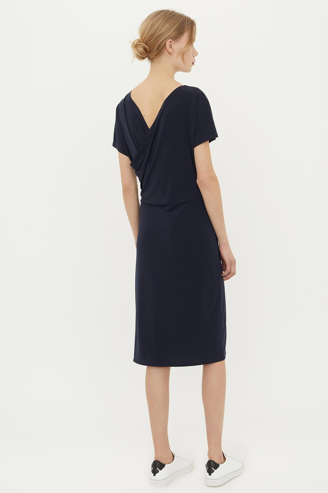By Malene Birger Crepe Wrap Dress - Front Full Image