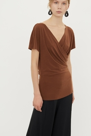 By Malene Birger Crepe Wrap Top - Front cropped