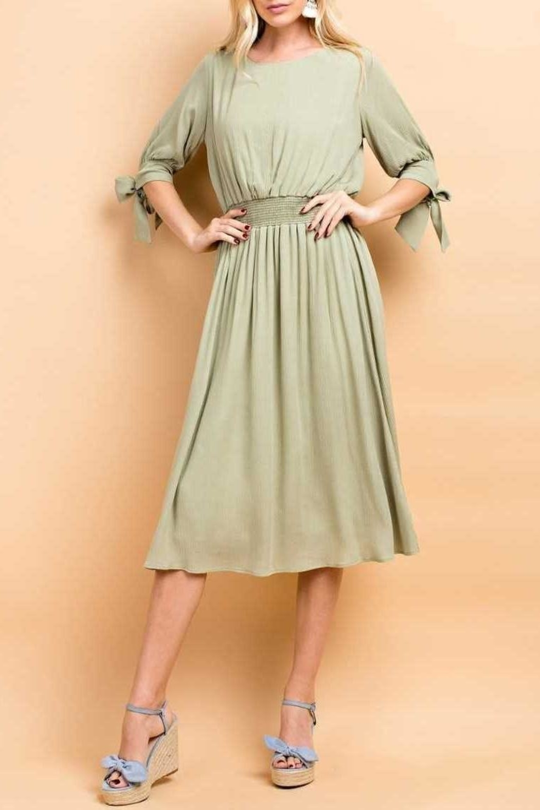 143 Story Crepon Dress - Front Cropped Image