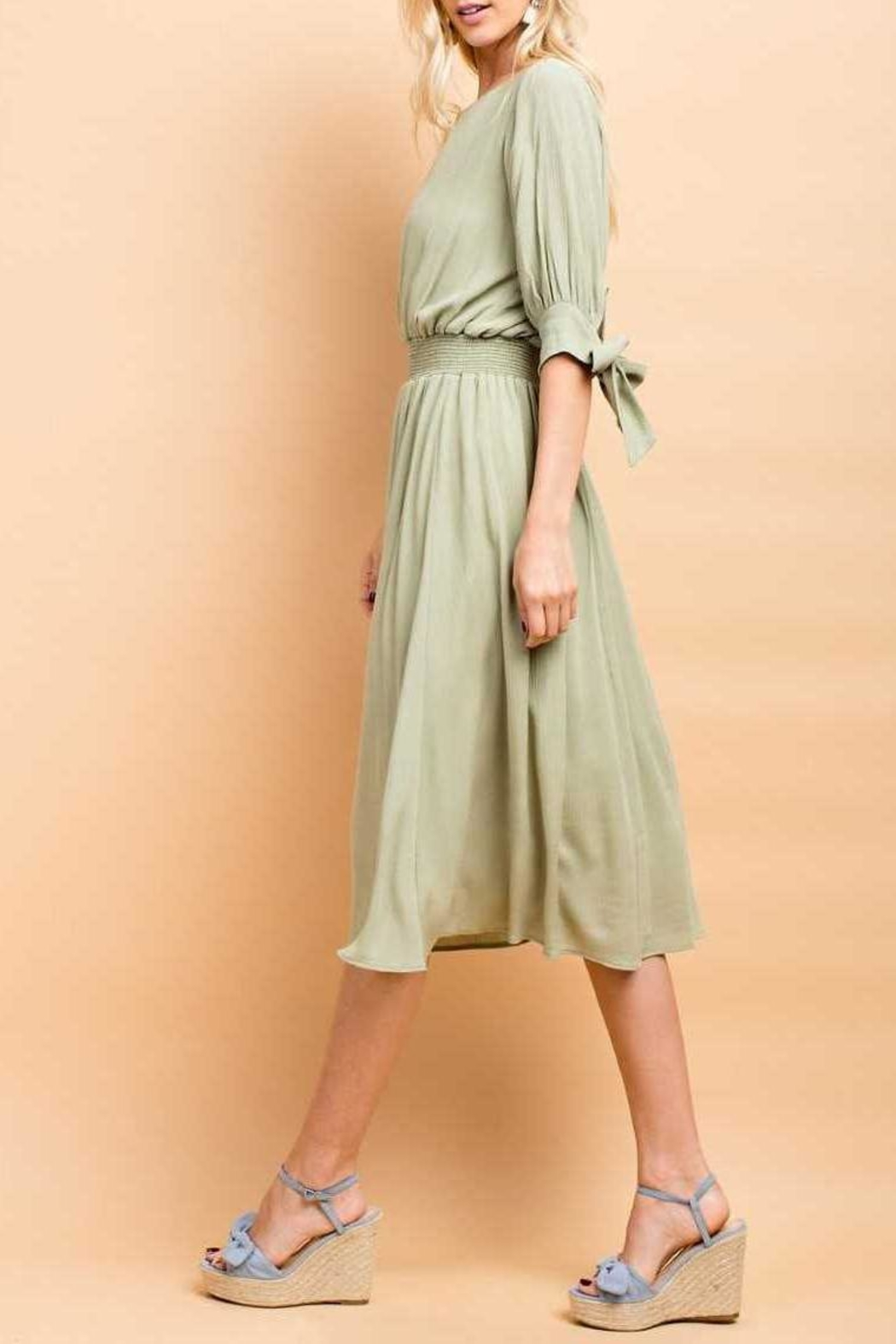 143 Story Crepon Dress - Side Cropped Image