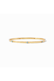 Julie Vos CRESCENT BANGLE GOLD/PACIFIC BLUE-SMALL - Product Mini Image